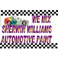 We mix Sherwin Williams automotive paint